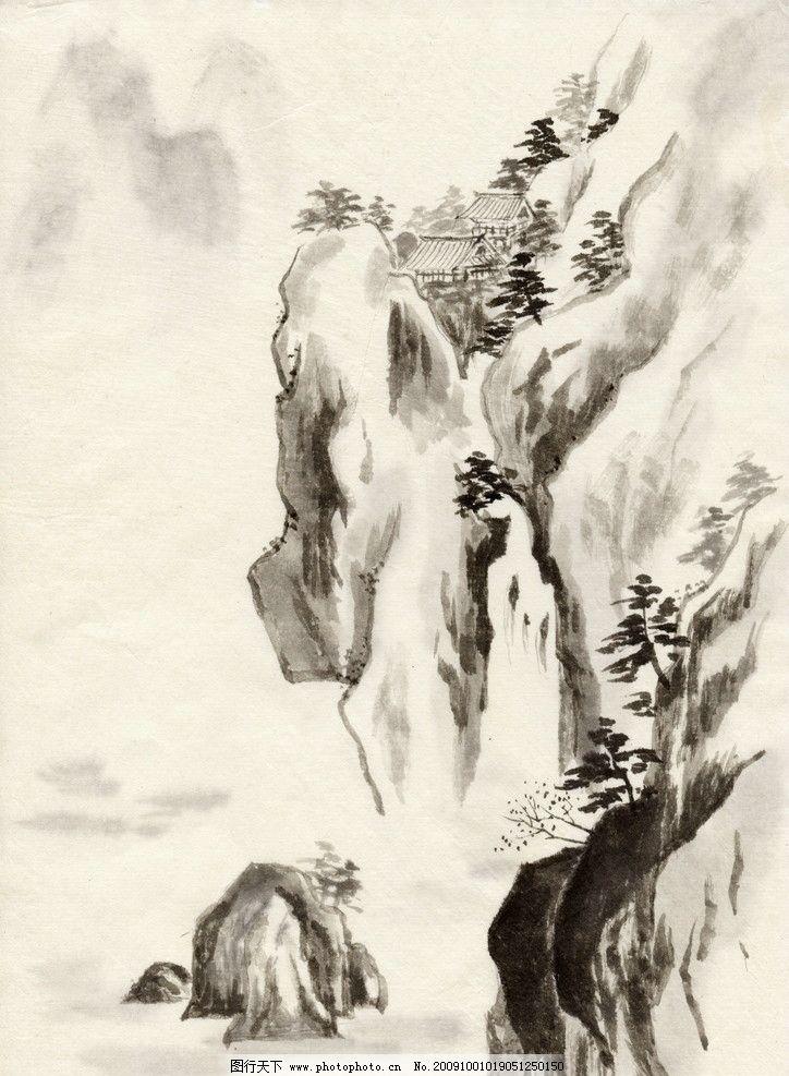 风景画 装饰画 文化艺术 绘画书法 国画系列 设计图库 jpg 水墨 中国