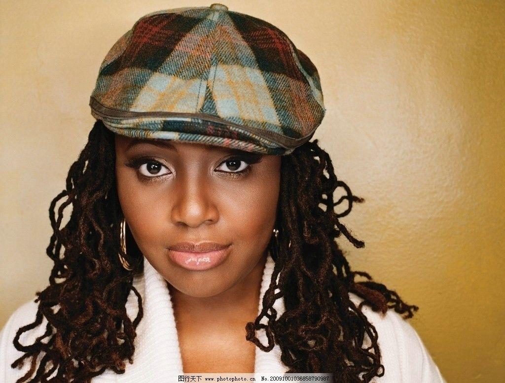 黑人美女 鸭舌帽 黑人发型 女性女人 人物图库 摄影 300dpi jpg图片