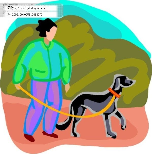 可爱狗狗卡通图片