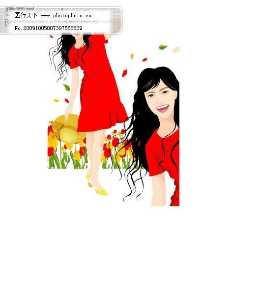 韩国人物素材 插画 潮流矢量图 妇女女性矢量图 广告 韩风 韩国女性