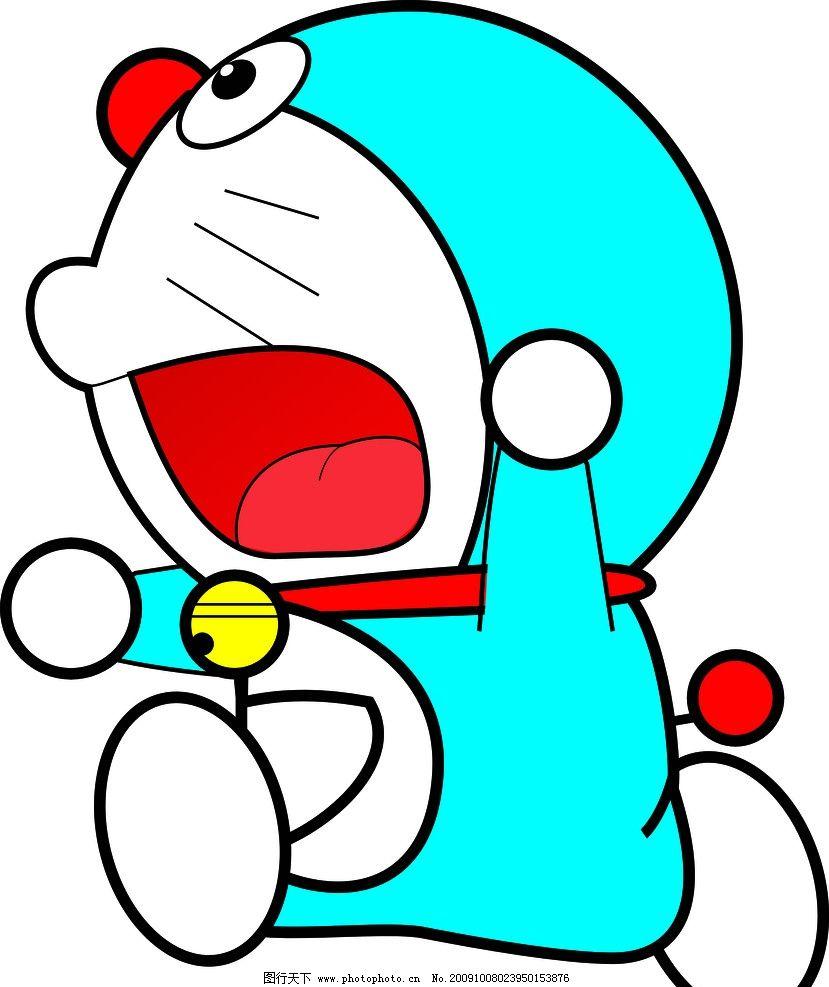 多啦a梦 多拉a梦 卡通 幼儿园 啊 cdr 奔跑 其他人物 矢量人物图片