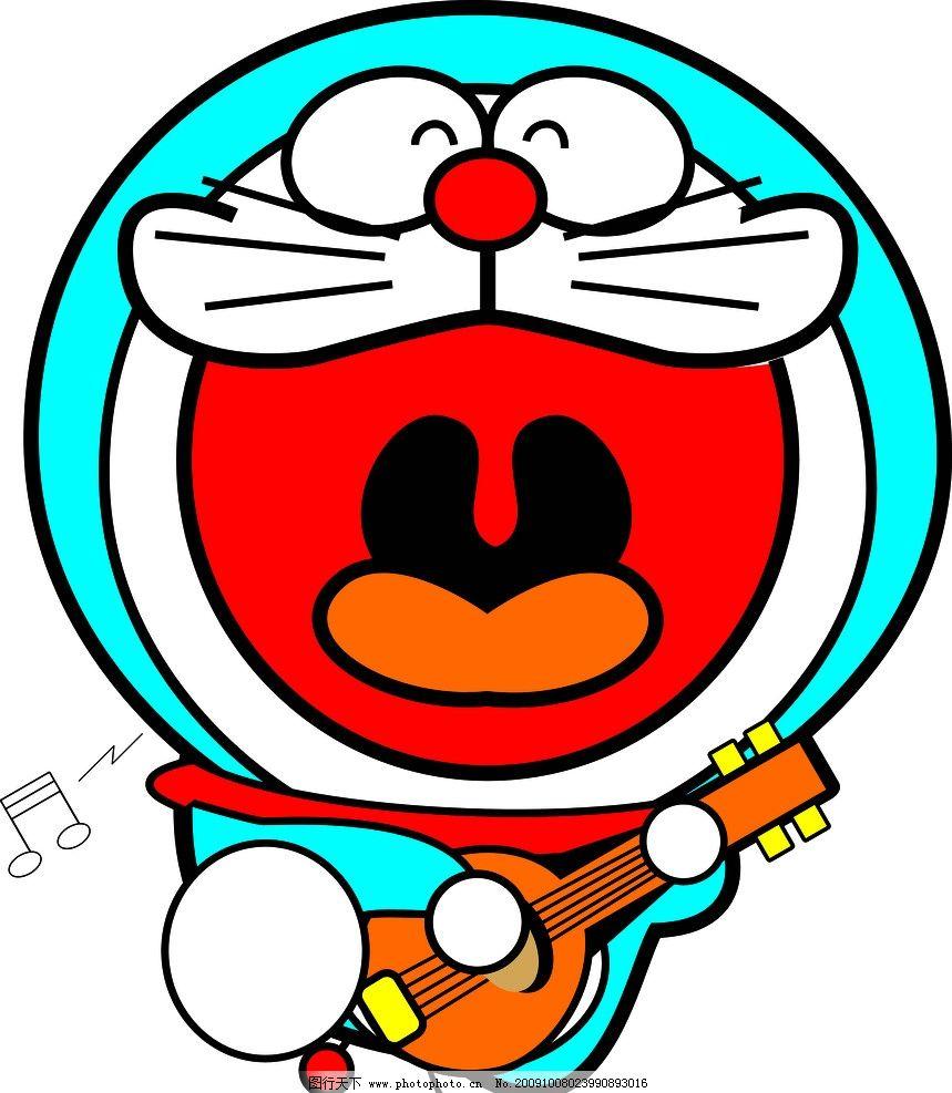 哆啦a梦弹吉他 卡通图片 音乐 啊 其他人物 矢量人物 cdr