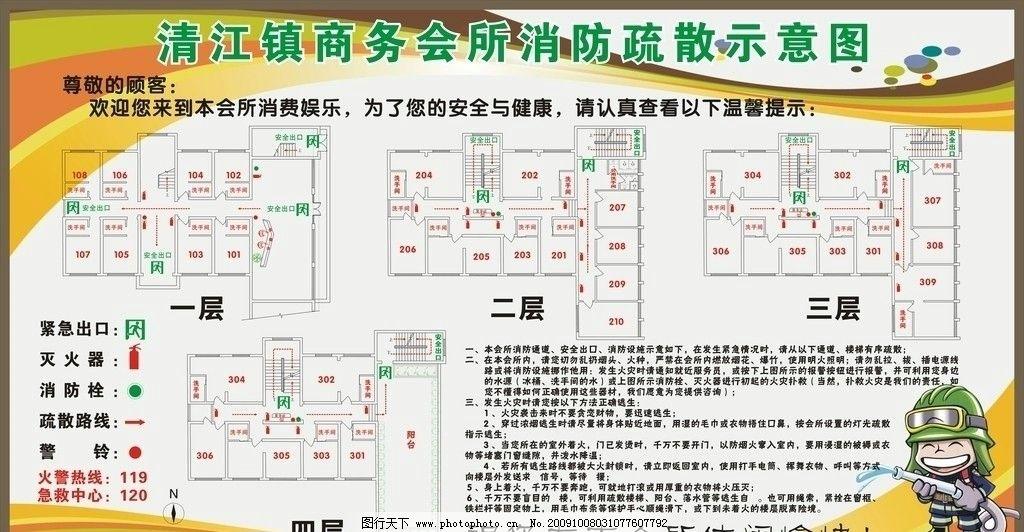 消防安全疏散平面图图片