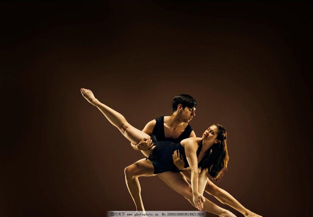 舞蹈 动作 演员 优美 双人舞 合作 职业人物 人物图库 摄影 300dpi