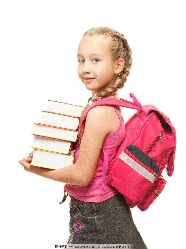 摄影图库 人物图库 人物摄影  背书包的学生 小孩子高清图片 小学生