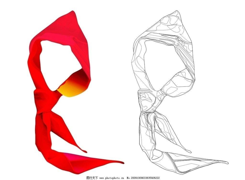 少先队标志 红领巾矢量素材图片