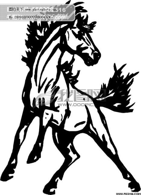 马的矢量图免费下载 马