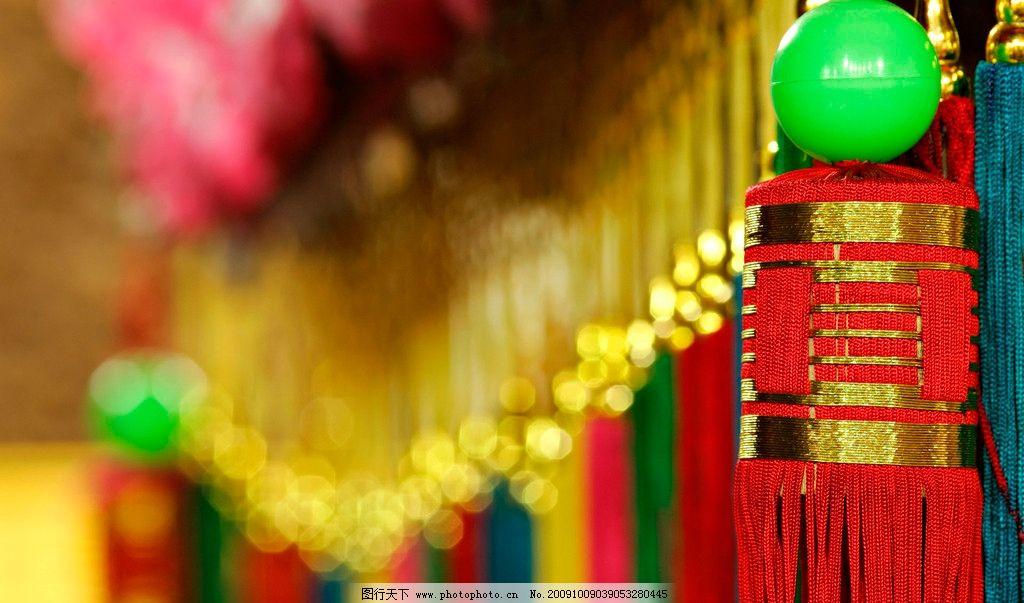 吉祥中国 红花 红灯 宝绿 大红色 中国红 吉利 摄影
