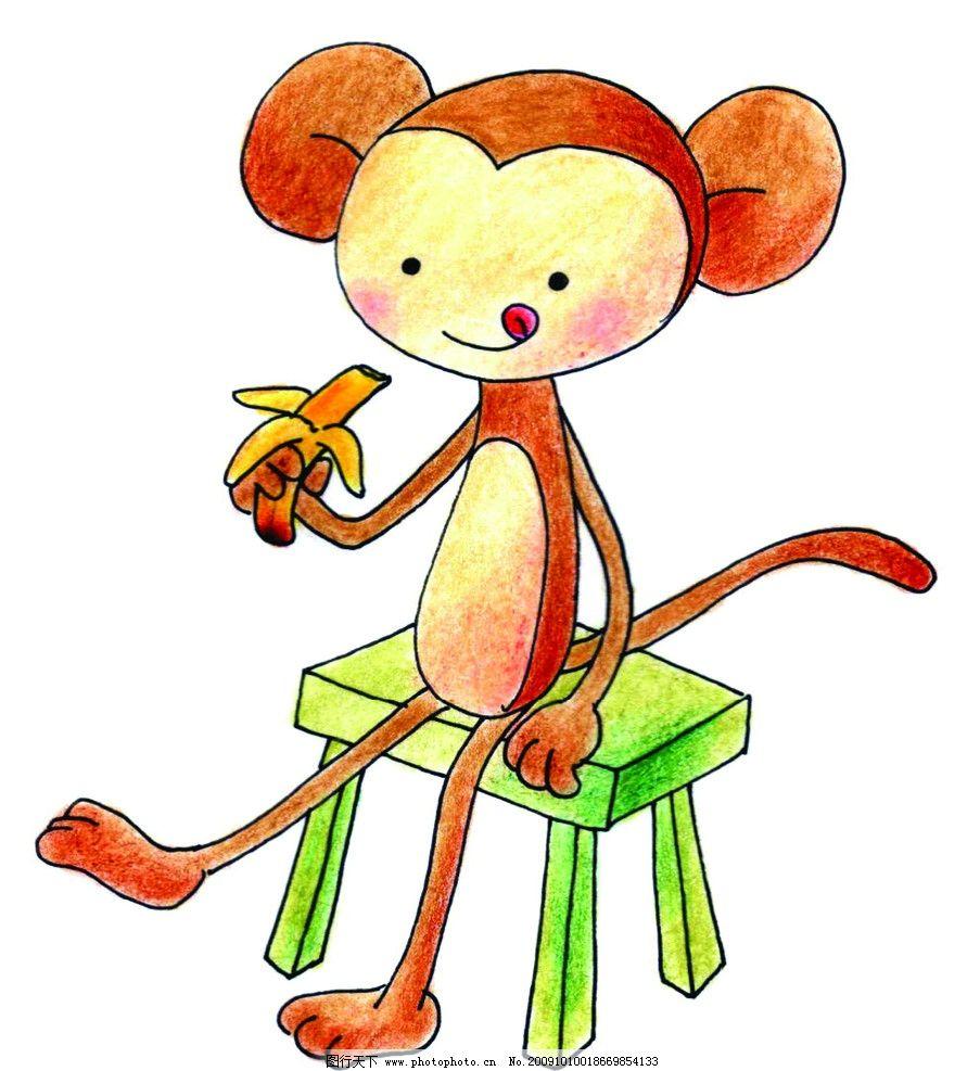 吃香蕉的小猴子 小猴子