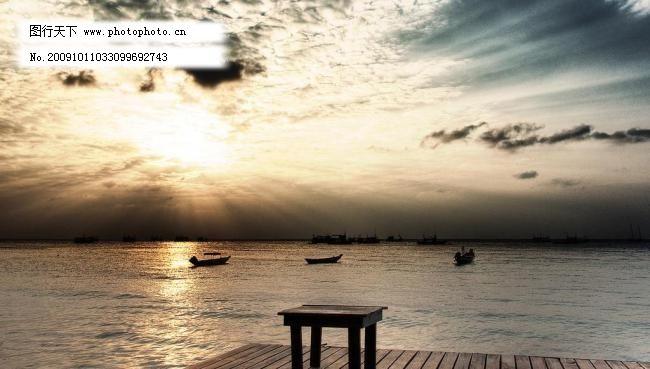 梦幻海边风景图片