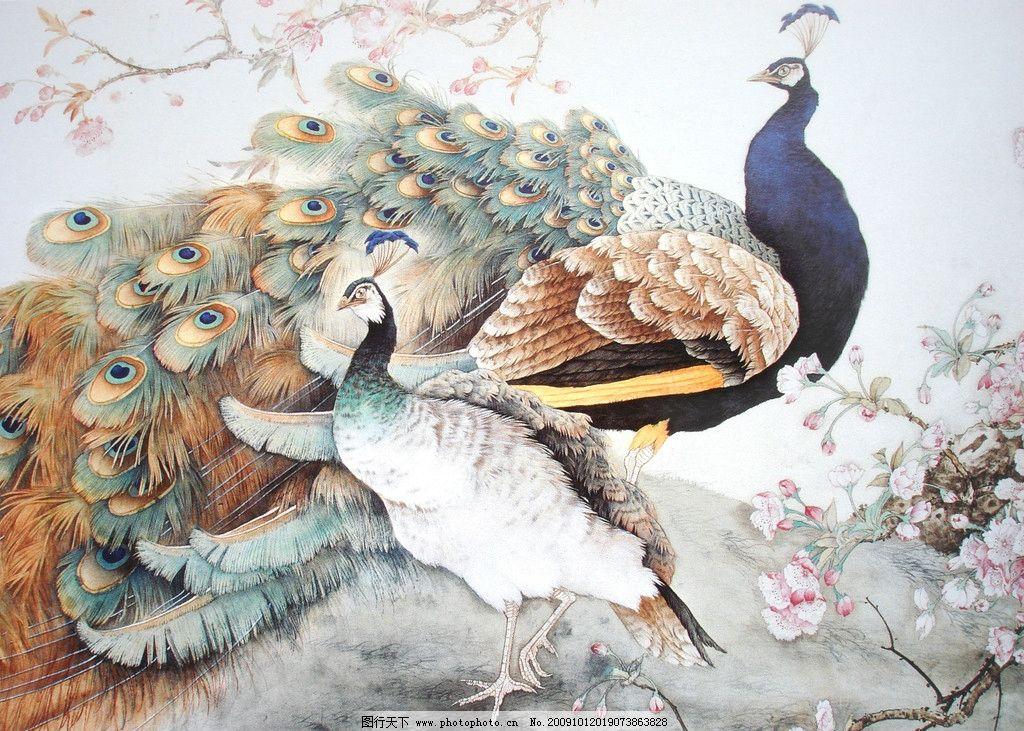 吉祥图 花鸟 花草 凤凰 杜鹃 动物工笔画 绘画书法 文化艺术 设计 72