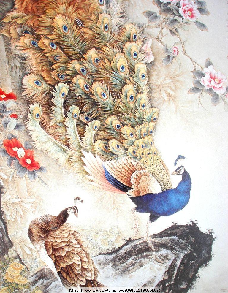 吉祥图 花鸟 花草 凤凰 牡丹 怪石 动物工笔画 绘画书法 文化艺术