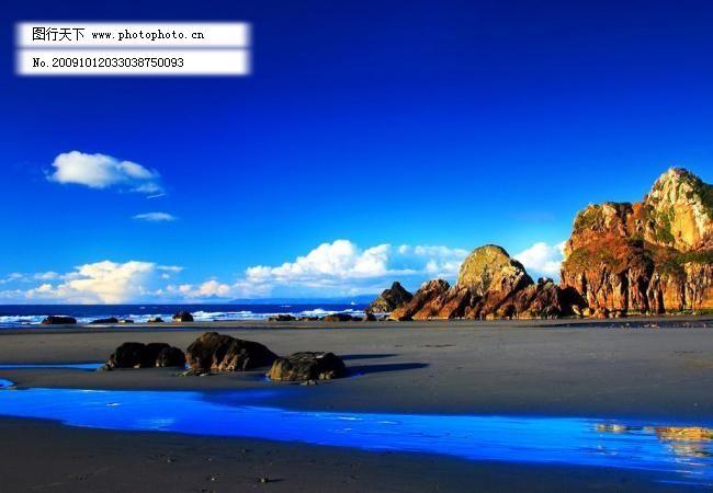 蓝天 沙滩 蓝色海滩图片素材下载 蓝色海滩 蓝色 海滩 沙滩 高山 大海