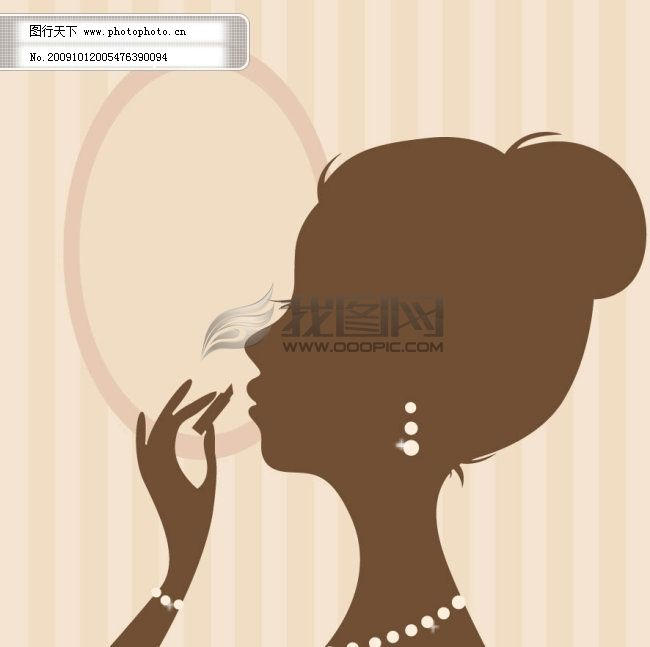 侧面化妆女性人物剪影 侧面化妆女性人物剪影免费下载 唇膏 矢量素材