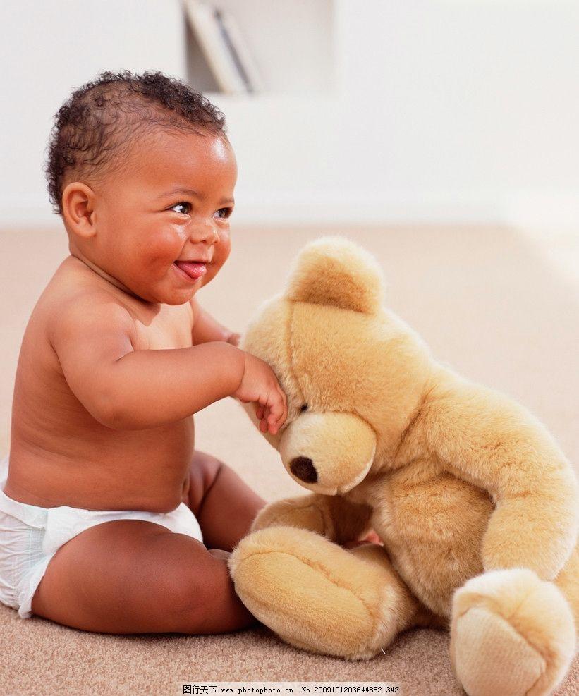黑人婴孩 黑人 婴儿 熊 玩具 婴儿系列 儿童幼儿 人物图库 摄影 299dp