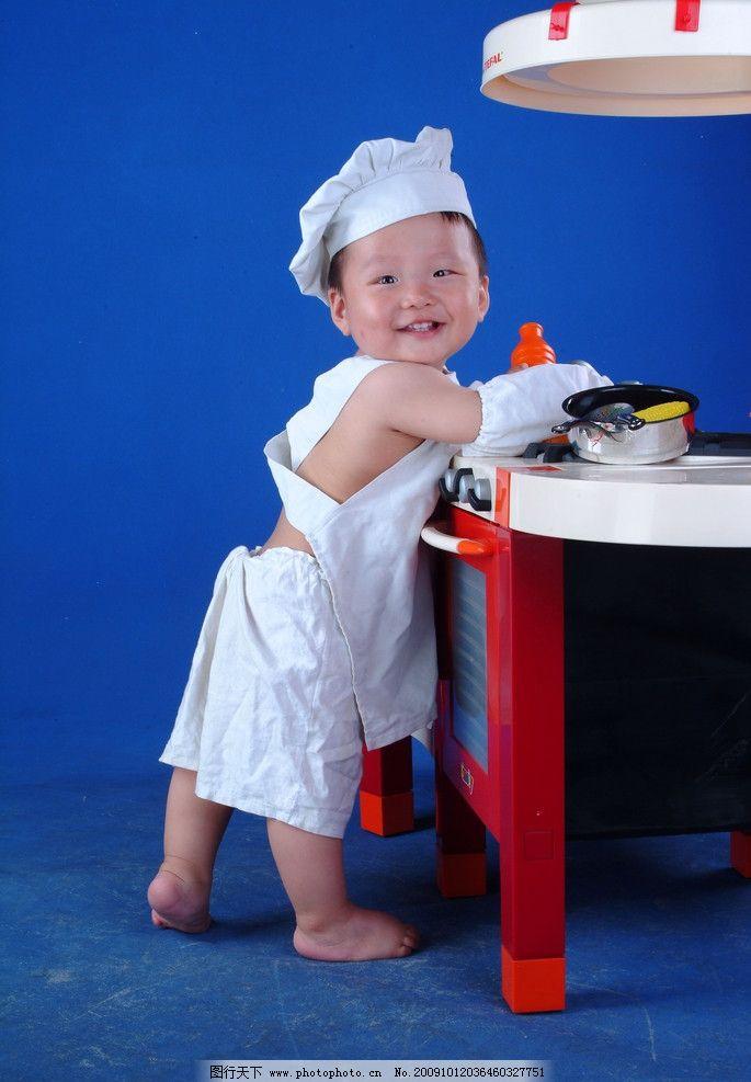 婴幼儿摄影 高清婴幼儿摄影素材 婴幼儿素材 儿童摄影 儿童幼儿 可爱宝贝 婴儿 宝宝 baby 小孩子 婴孩 婴幼儿 可爱 厨师 笑 笑容 开心 人物图库 摄影图库 高清图片 72DPI JPG 摄影
