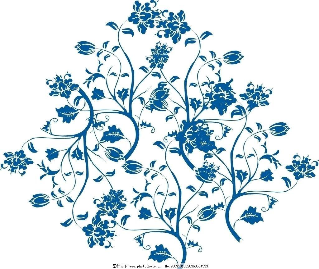 青花瓷花纹 青花瓷 花纹 手绘花纹 瓷器 cdr花纹 花纹边框 花纹背景