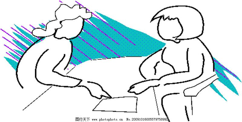 身体语言0064_其他_矢量图_图行天下图库