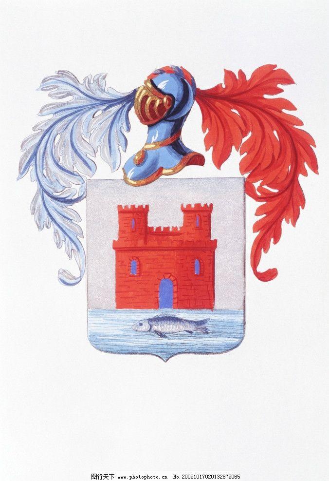 徽章 06 欧式logo 勋章 荣誉徽章 时尚设计 贵族徽章 贵族标识 鱼 水