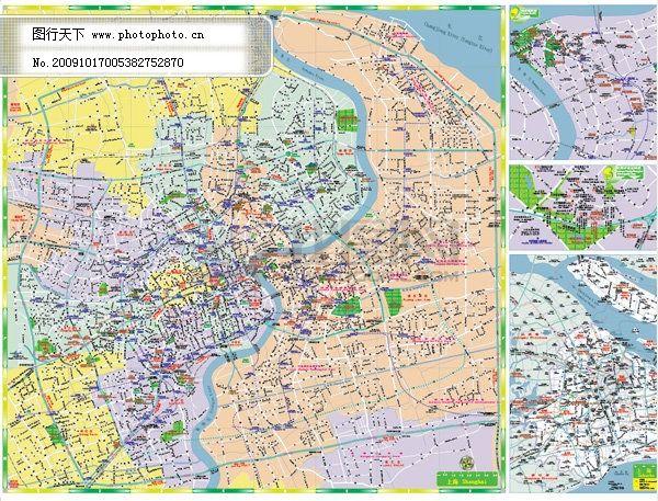 上海市地图免费下载 上海市地图 黄浦区等矢量地图 及工业园区 行政