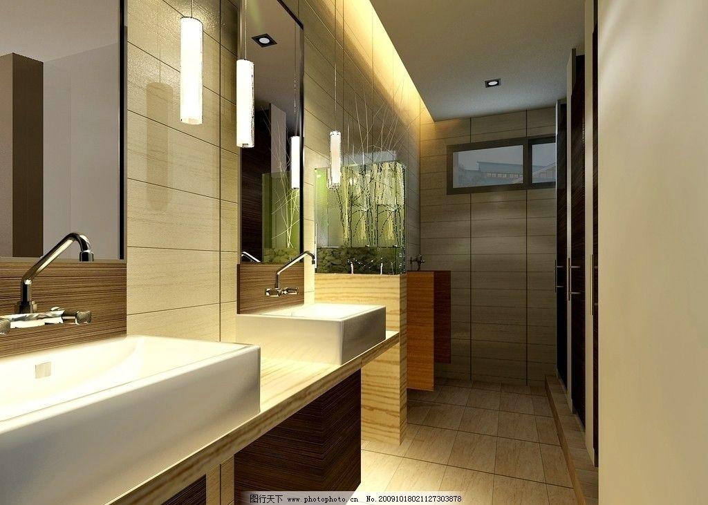 卫生间效果图 室内装修效果图