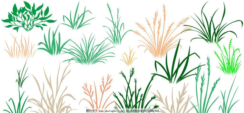 黑白水稻矢量图