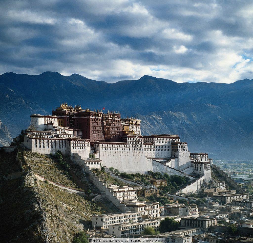 傍晚的西藏布达拉宫图片_自然风景_旅游摄影_图行天下