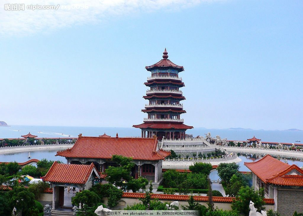 蓬莱仙境中的楼阁 蓬莱岛 人间仙境 楼阁 人文景观 旅游摄影 摄影 72d
