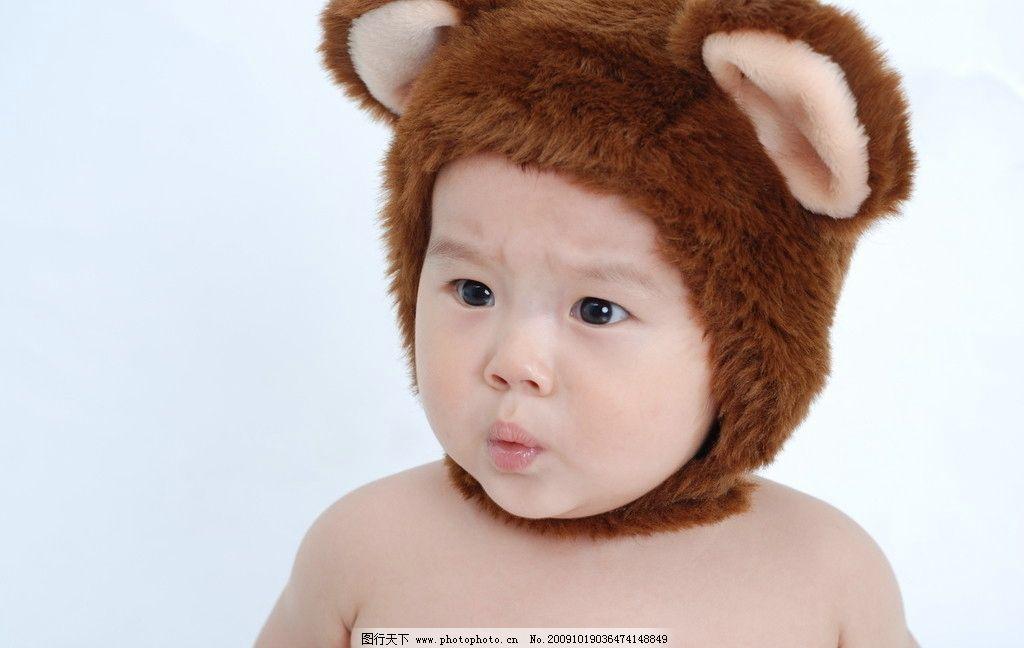 宝宝照 宝宝照片 儿童写真 淘气熊 熊宝宝 儿童幼儿 人物图库 摄影