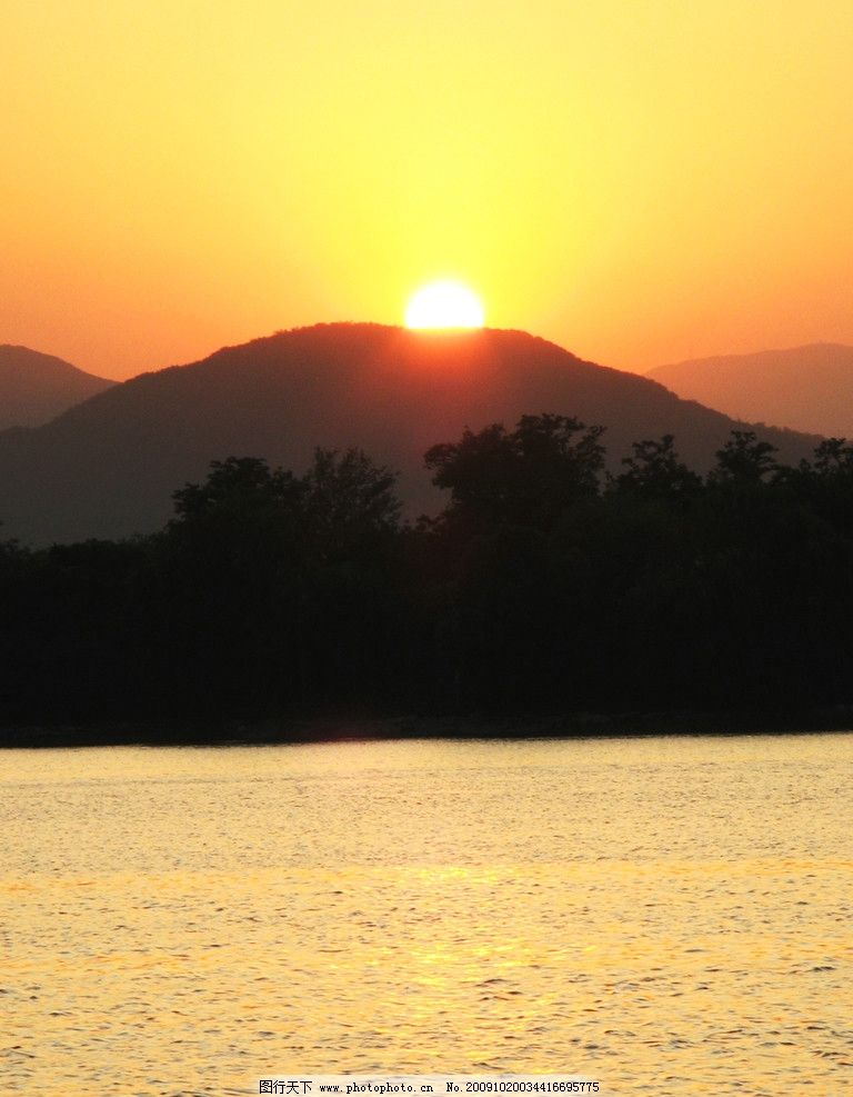 日落印象图片_山水风景_自然景观_图行天下图库