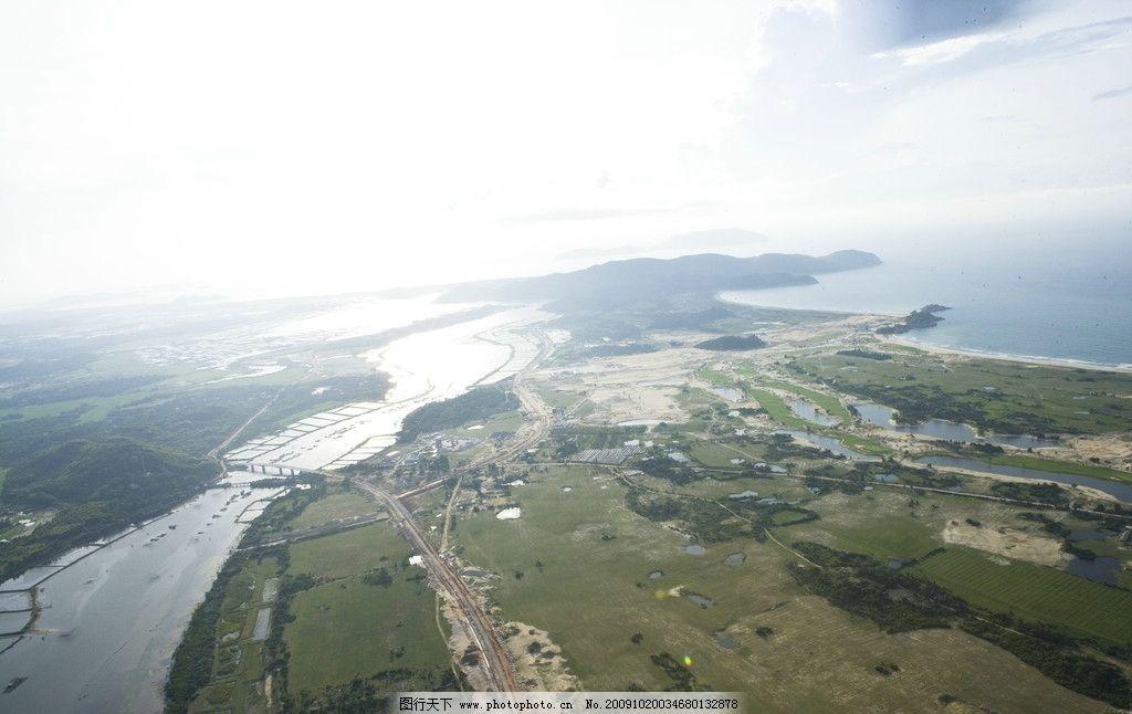 神州半岛航拍图片