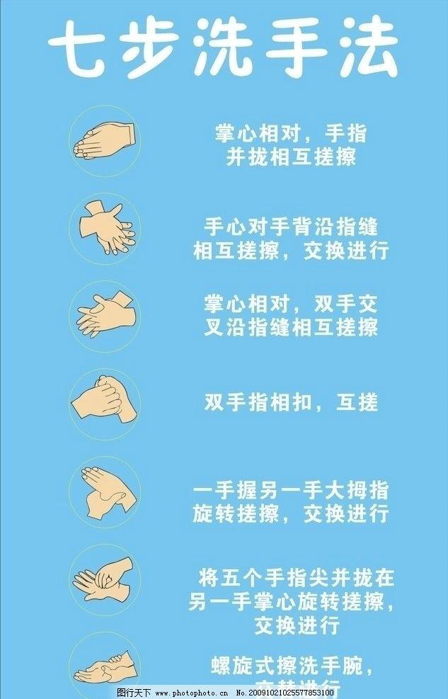 七步洗手法图片