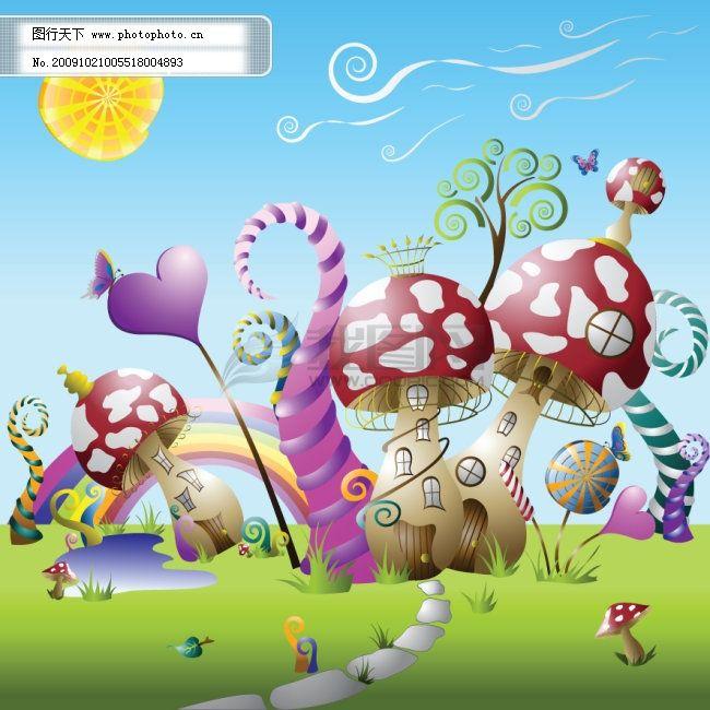 可爱蘑菇房图片大全