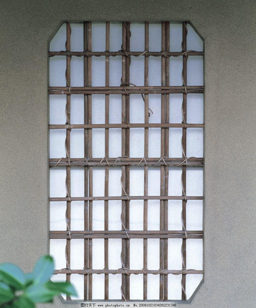 窗棂 格子 木格子 古典日本风格主题图像素材