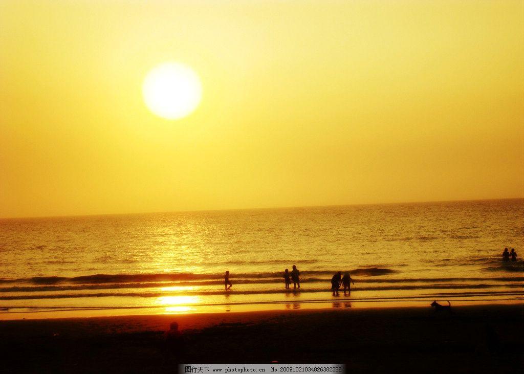 落日 金色 海 霞 暮 黄昏 自然风景 自然景观 摄影 72dpi jpg
