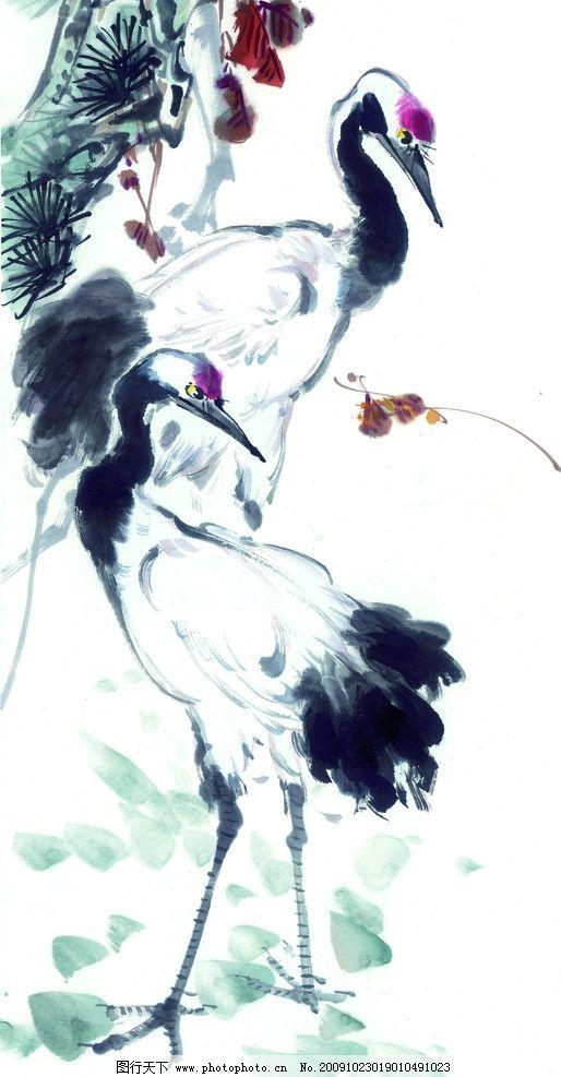 仙鹤 国画 水墨画 鹤 绘画书法 文化艺术 设计 300dpi jpg