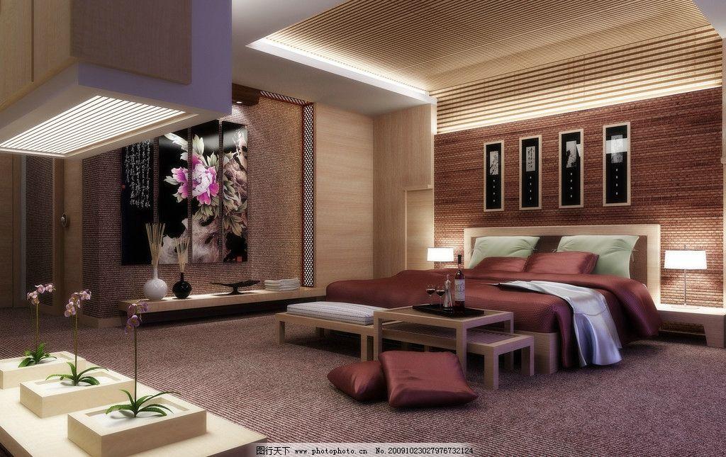 简约欧式卧室效果图片