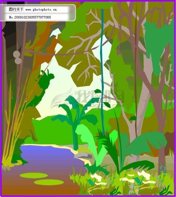 热带丛林免费下载 草 丛林 河流 热带 树林 热带丛林 河流 树林 草