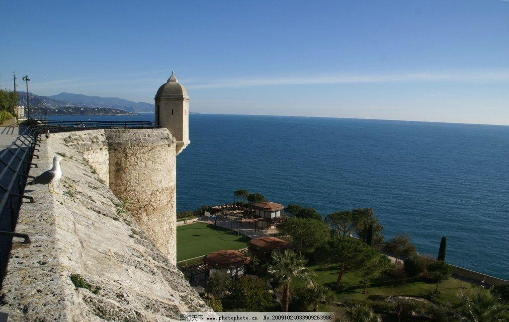 古老的城堡 海边 蓝天 风景 国内旅游 摄影