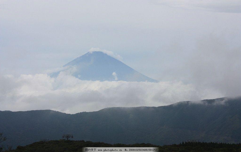 山顶的云渐渐散去 旅游 风景 山 富士山 日本旅游 国外旅游 旅游摄影