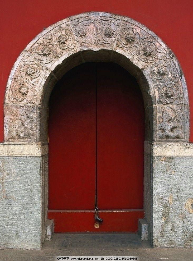 古代门 城门内 宫殿 古门 祥云 柱子 花纹 祥和 喜祥 龙 龙纹