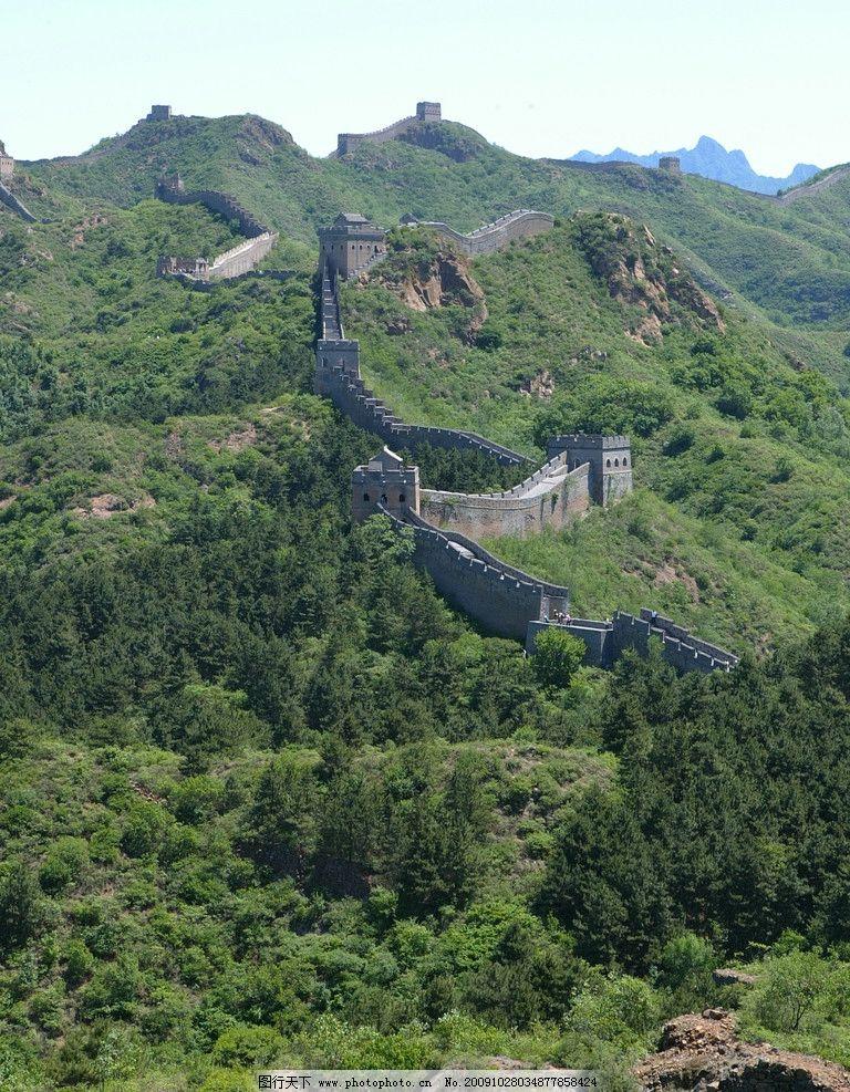 长城 山峦起伏 祖国山河 春天 绿色 自然风景 自然景观 摄影 180dpi