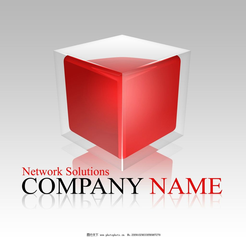 商标logo 商标logo 3d 正方形 公司商标 三维 立体 psd分层素材 其他