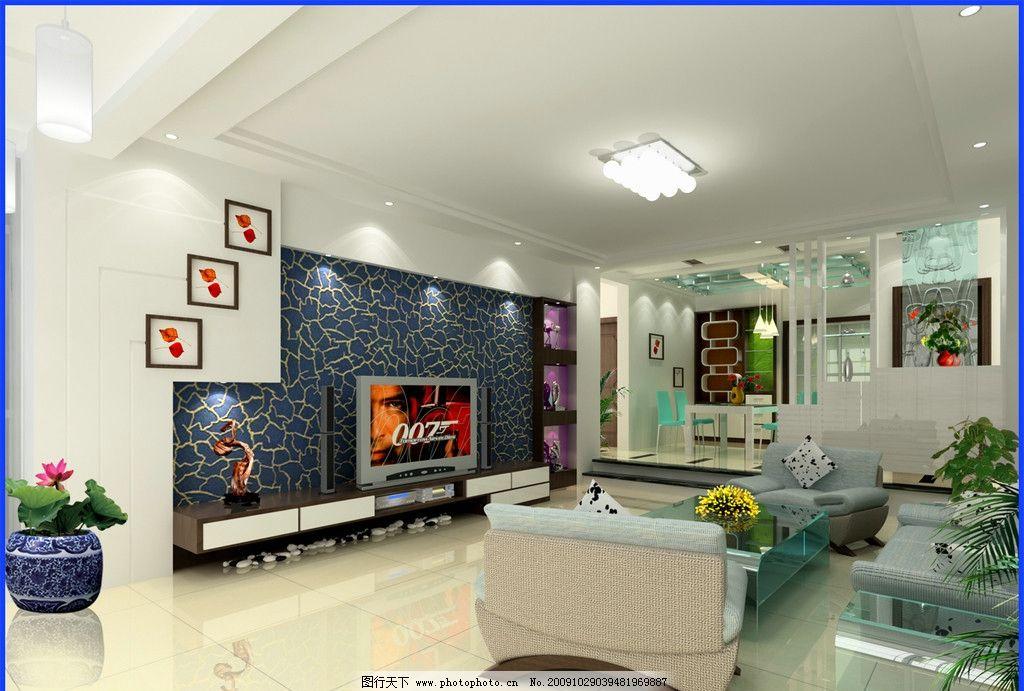家居设计 室内设计 客厅 荷花 墙面装饰 家居生活 建筑摄影 建筑园林