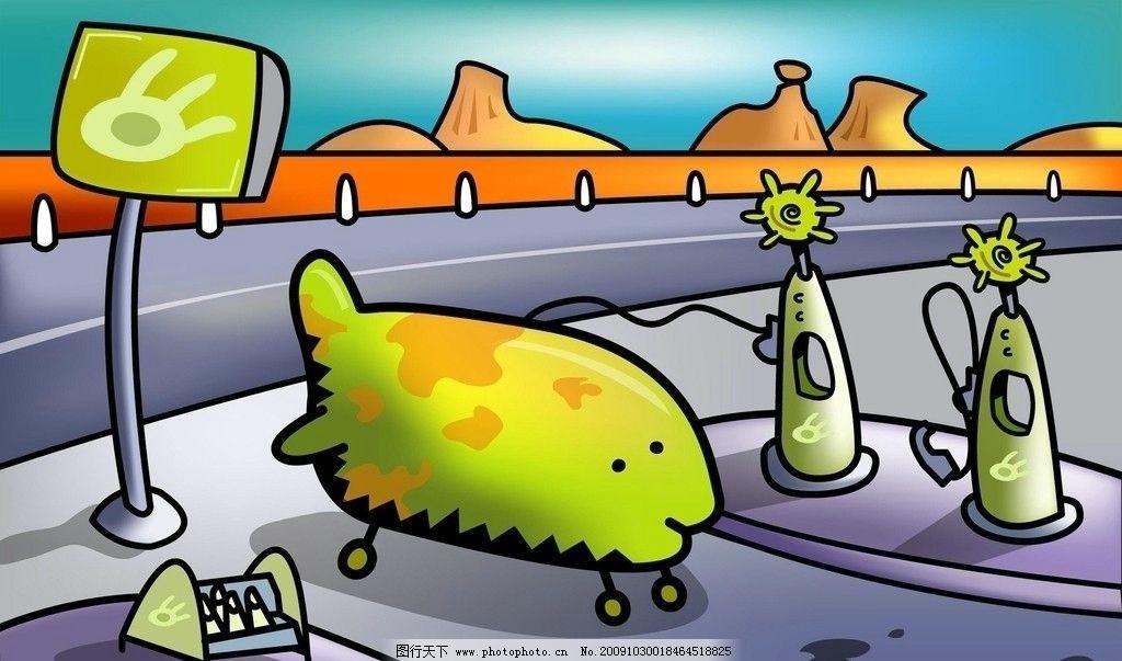 飞机场图片_风景漫画_动漫卡通