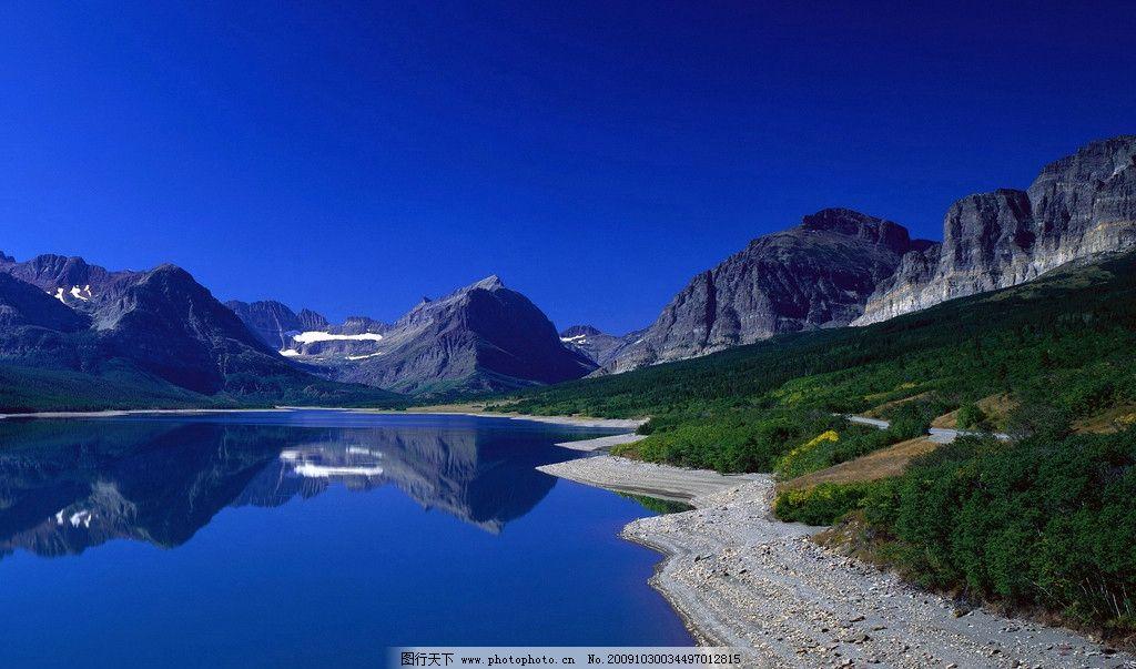 大自然 风景 摄影 艺术 蓝天 倒影 大海 高山 海滩 海岸 山水风景