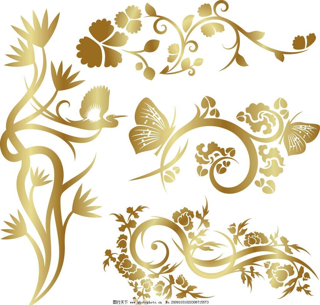 金属花边 金色花 花边花纹 底纹边框 设计 299dpi jpg