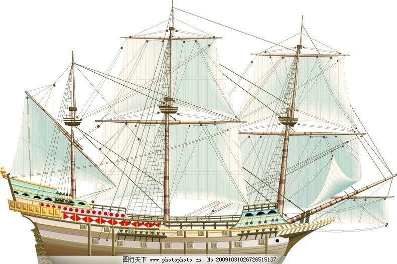 帆船侧面完整图图片