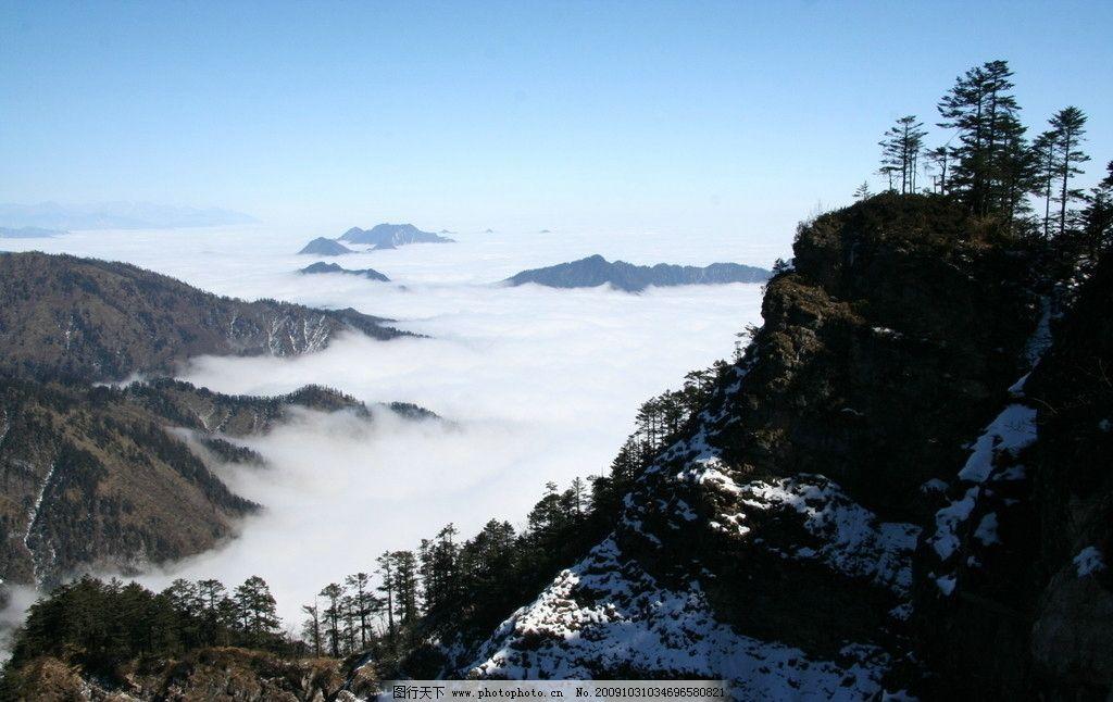 西岭雪山图片,四川 成都 风景 旅游 摄影-图行天下图库