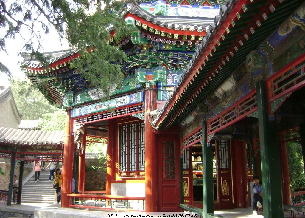 颐和园古建筑彩绘 彩绘 古建筑 亭子 古建筑彩绘 图案 手绘 园林 艺